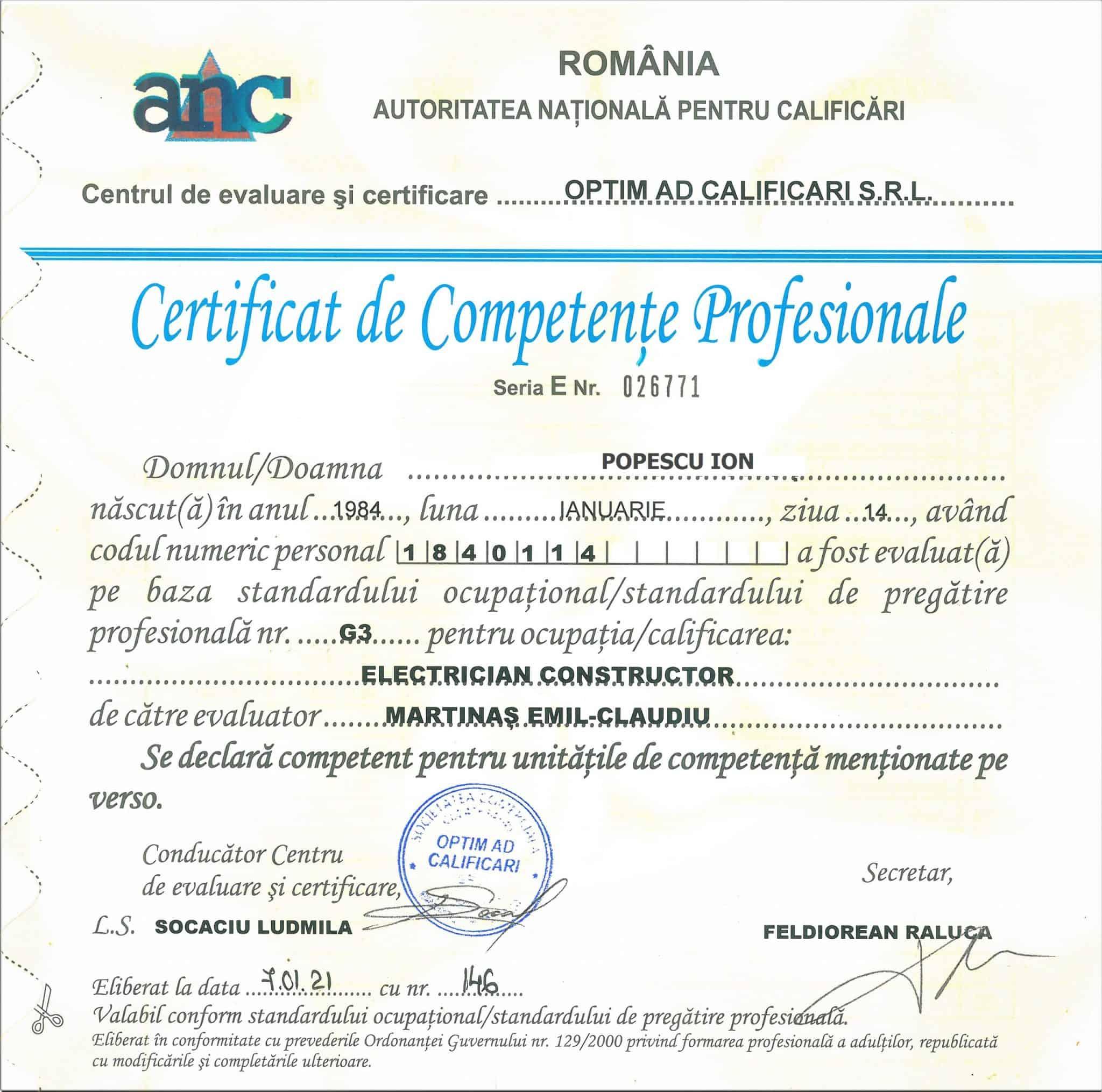 Cum verificăm autenticitatea Certificatului de Competețe Profesionale_OPTIM AD CALIFICARI BRASOV